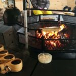 Campfire coffee in Laplander's hut