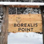 Borealis Point sign in daylight