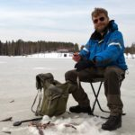 Ice fishing in April